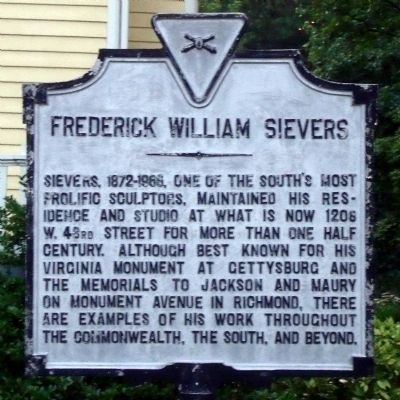 Frederick William Sievers Marker image. Click for full size.