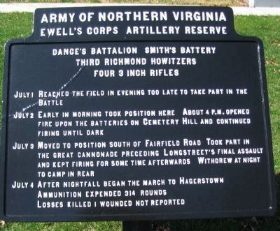 Third Richmond Howitzers Marker image. Click for full size.