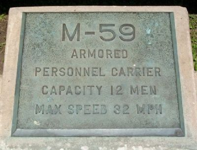 M-59 Armored Personnel Carrier Marker image. Click for full size.