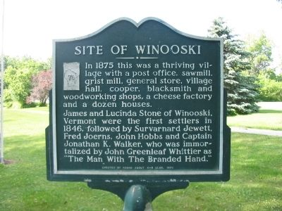 Site of Winooski Marker image. Click for full size.