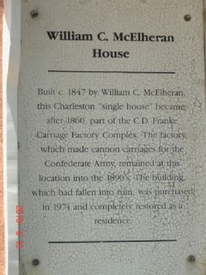 William C. McElheran House Marker image. Click for full size.