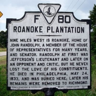 Roanoke Plantation Marker image. Click for full size.
