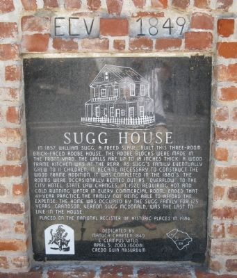 Sugg House Marker image. Click for full size.