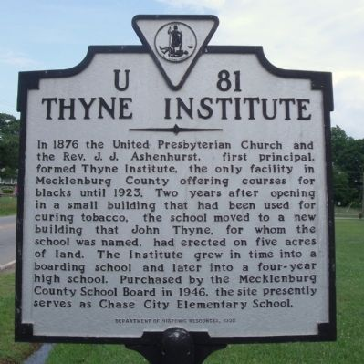 Thyne Institute Marker image. Click for full size.