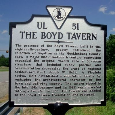 The Boyd Tavern Marker image. Click for full size.