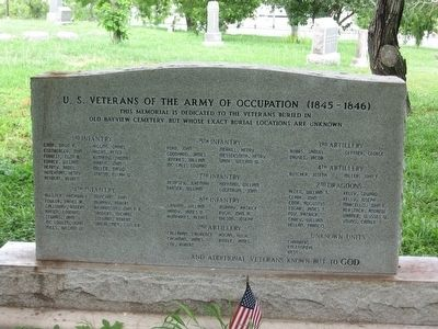 U.S. Veterans of the Army of Occupation (1845-1846), <i>(Mexican-American War)</i> image. Click for full size.