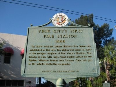 Ybor City's First Fire Station Marker image. Click for full size.