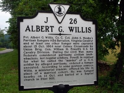 Albert G. Willis Marker Photo, Click for full size