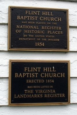 Plaques on the Historic Church Photo, Click for full size