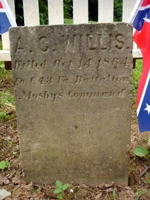 Albert G. Willis Headstone Photo, Click for full size