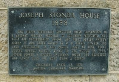 Joseph Stoner House Marker Photo, Click for full size