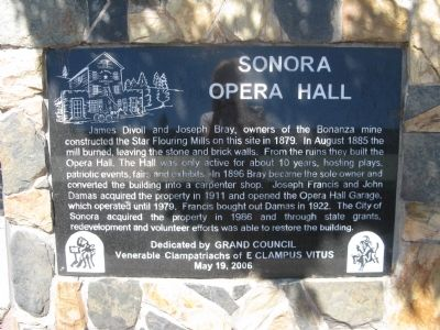Sonora Opera Hall Marker image. Click for full size.