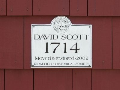 Marker on the David Scott House image. Click for full size.