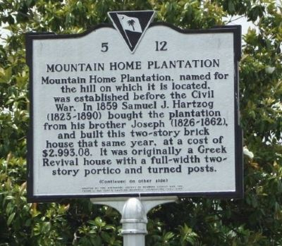 Mountain Home Plantation Marker image. Click for full size.