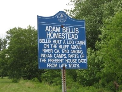 Adam Bellis Homestead Marker image. Click for full size.
