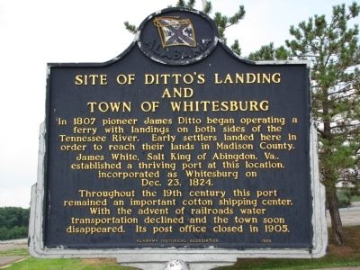 Site of Ditto's Landing and Town of Whitesburg Marker image. Click for full size.