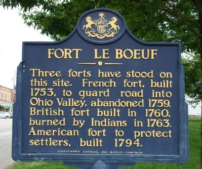 Fort Le Boeuf Marker image. Click for full size.