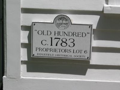 """Old Hundred"" Marker on the Aldrich Contemporary Art Museum image. Click for full size."