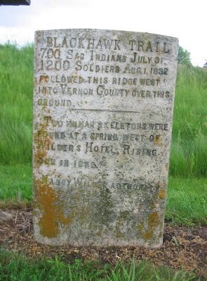 Black Hawk Trail Marker image. Click for full size.