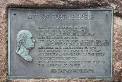 Site of Fort Le Boeuf Marker image. Click for full size.