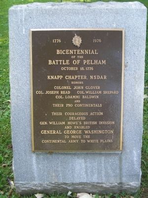 Battle of Pelham Marker image. Click for full size.