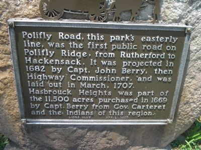 Polifly Road Marker image. Click for full size.
