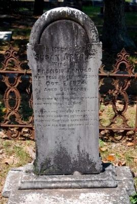 Susan Arnold Tombstone image. Click for full size.