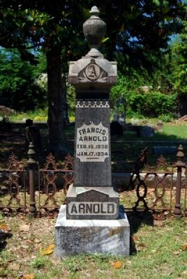 Francis Arnold Tombstone image. Click for full size.