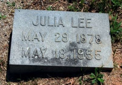Julia Lee Tombstone image. Click for full size.