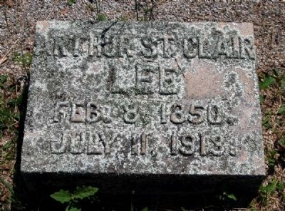 Arthur St. Clair Lee Tombstone image. Click for full size.