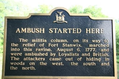 Ambush Started Here Marker image. Click for full size.