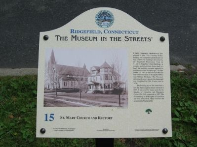 St. Mary Church and Rectory Marker image. Click for full size.