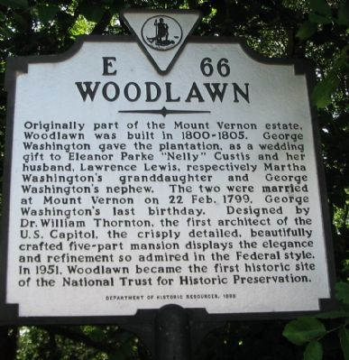 Woodlawn Marker image. Click for full size.