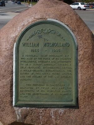 William Mulholland Marker Photo, Click for full size