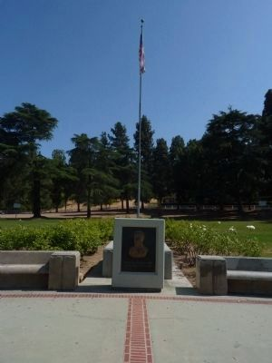 William Mulholland Relief and Flagpole Photo, Click for full size