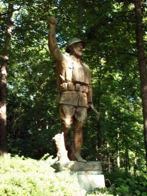 Left View - - Doughboy Statue image. Click for full size.