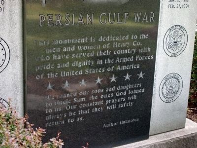 Persian Gulf War Memorial Marker image. Click for full size.