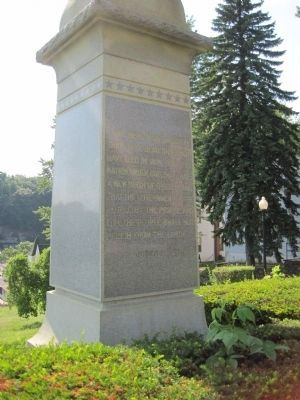 Reverse side of the Weatherly Civil War Memorial Marker image. Click for full size.