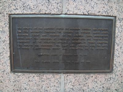 Second marker for Lincoln statue image. Click for full size.