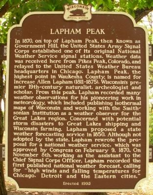 Lapham Peak Marker Photo, Click for full size