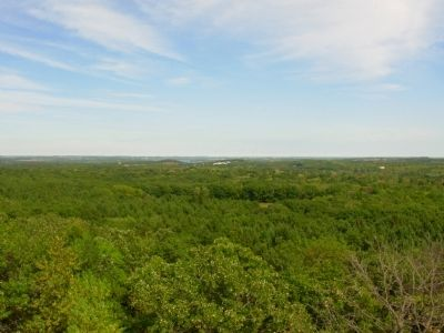 View from atop lookout tower Photo, Click for full size