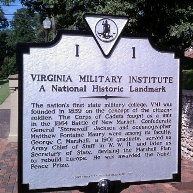Virginia Military Institute Marker image. Click for full size.