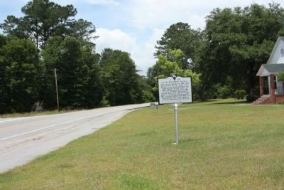 Salem Methodist Church Marker, seen along Salem Church Road, looking west image. Click for full size.