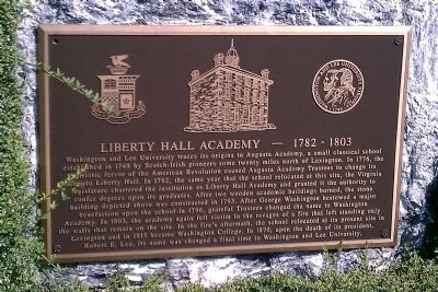 Liberty Hall Academy Marker image. Click for full size.