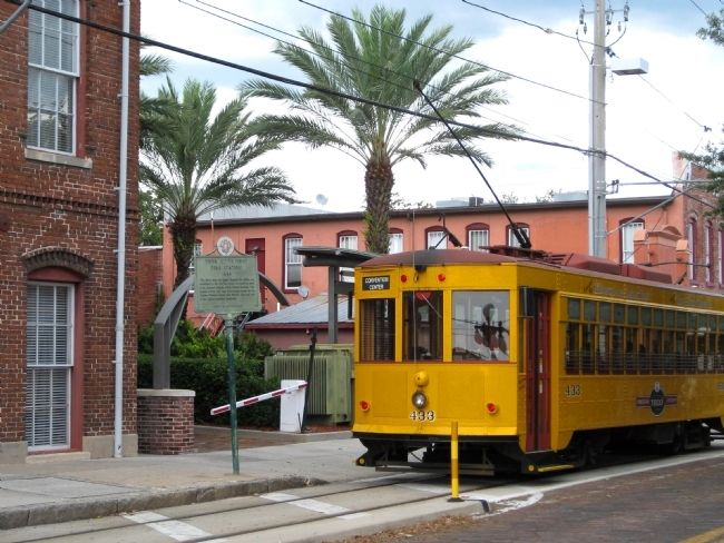 Historic Marker and TECO Line Streetcar #433 image. Click for full size.
