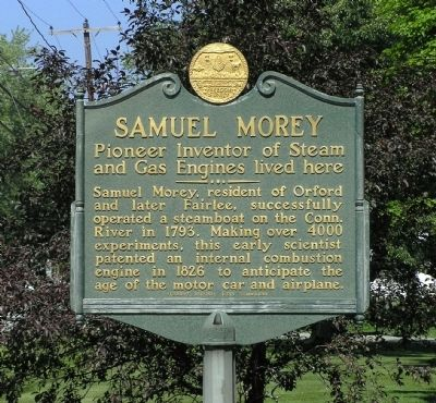 Samuel Morey Marker Photo, Click for full size