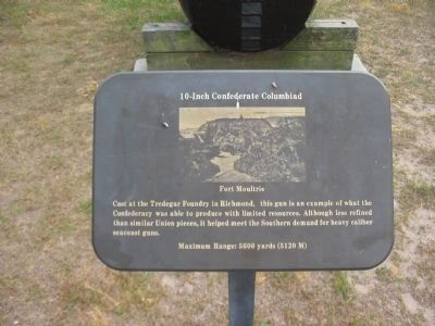 10-Inch Confederate Columbiad Marker image. Click for full size.