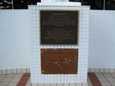 Jose Marti 1998 Marker and 1960 Dedication Plaque image. Click for full size.