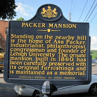 Packer Mansion Marker image. Click for full size.