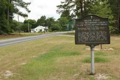 Green Pond United Methodist Church Marker as seen along State Road 61, looking west image. Click for full size.
